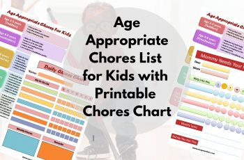 chores for kids by age with printable chore chart