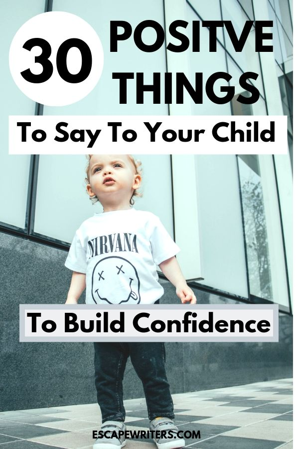 pin image for a list of positive things to say to your child