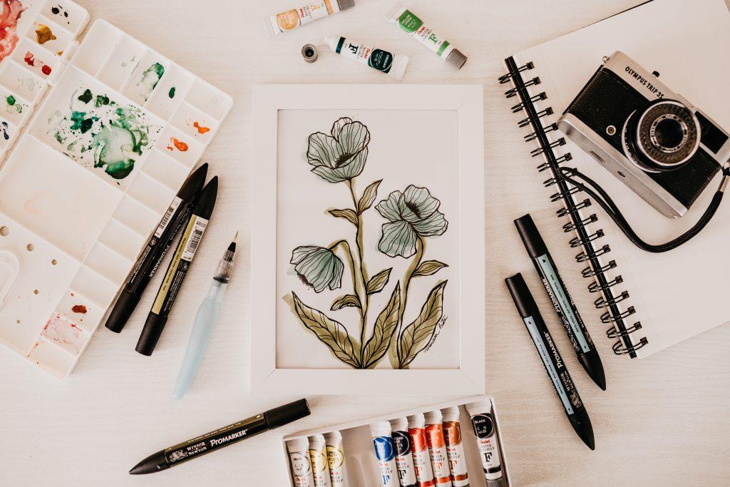 doodle art of flower