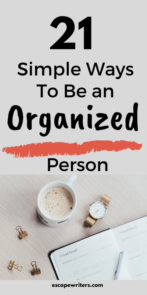 pin image of simple Ways to organize your life