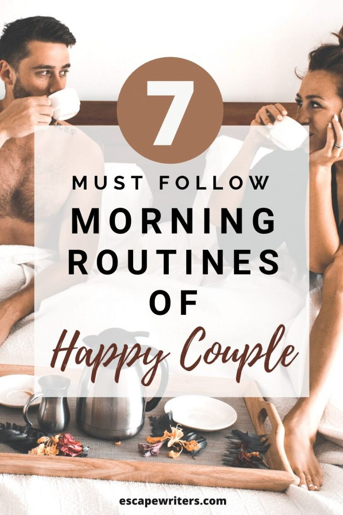 Morning Routines of Happy Couple